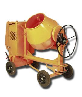 Half Bag Concrete Mixer -100 ltrs with MS Drum & Scooter Wheel Diesel Op