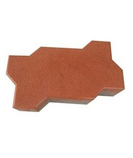 60MM ZIG ZAG GLOSSY PAVER BLOCK RED