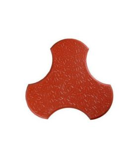 60MM CHAKRA GLOSSY PAVER BLOCK RED