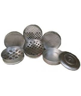 GI Sieves 300mm dia Full Set