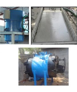 Non Autoclaved Plant with Steam Boiler - 15m3