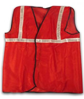Reflective Jacket with 1 Inch Tape (Red)
