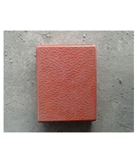 60MM STONE GLOSSY PAVER BLOCK RED